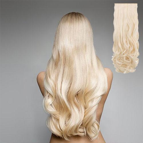 8 kusů kudrnatých vlasů z Thermofibru™ Clip In Set