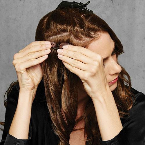 Vlnité vlasy z Thermofibre™ Clip In svazek