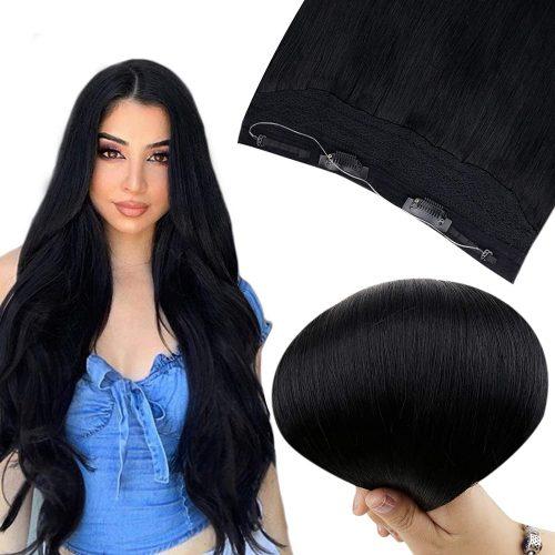FLIP IN vlasy – 100% lidské rovné vlasy