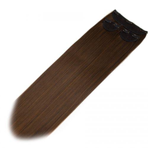 Clip in 3 dílná sada ENVY- 200g – 60cm #F28 Ombre z tmavé čokolády