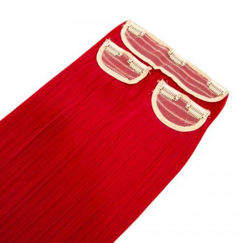 Clip in 3 dílná sada ENVY- 200g – 60cm #F36 Intenzivní červená