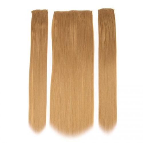 Clip in 3 dílná sada ENVY- 200g – 60cm #F8 Kaštanově blond