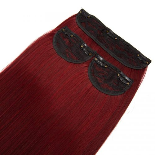 Clip in 3 dílná sada ENVY- 200g – 60cm #F38 Červené víno